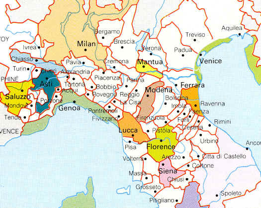 Map Of Northern Italy With Cities.Europe Political Maps Www Mmerlino Com
