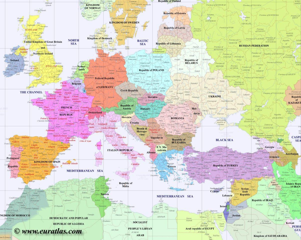Map Of Europe 1780.Europe Political Maps Www Mmerlino Com